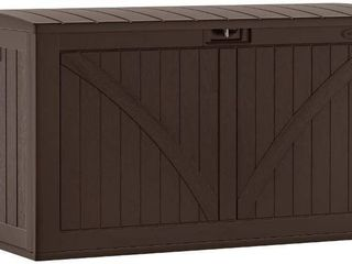 Suncast 134 Gallon Outdoor Deck Box Pool Backyard Storage