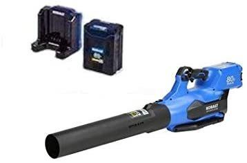 Kobalt 80 Volt Max lithium Ion 630 CFM Brushless Cordless Electric leaf Blower  2 5ah Battery and Charger Included