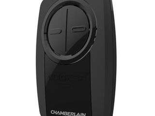 Chamberlain KlIK3U BK2 Black Universal Garage Door Remote Two Button