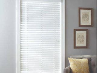 Allen Roth 2  Cordless White Faux Wood Blinds 28 5 x 64