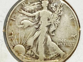 1945 liberty Silver Half Dollar Coin