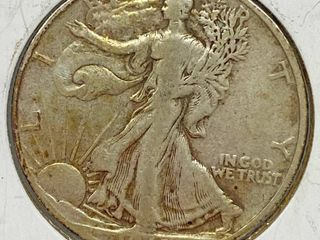 1945 D liberty Silver Half Dollar Coin