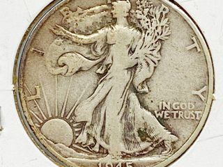 1945 S liberty Silver Half Dollar Coin