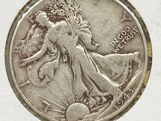 1943 liberty Silver Half Dollar Coin