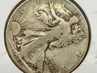 1942 liberty Silver Half Dollar Coin