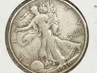 1939 S liberty Silver Half Dollar Coin