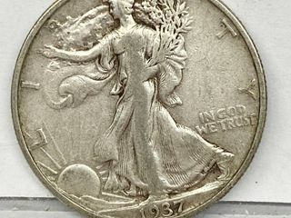 1937 liberty Silver Half Dollar Coin