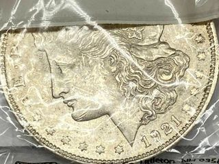 1921 Morgan Silver Dollar Coins   Amazing Condition