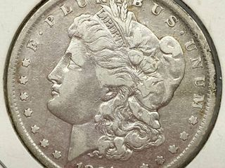 1891 O Morgan Silver Dollar Coin