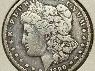 1890 O Morgan Silver Dollar Coin