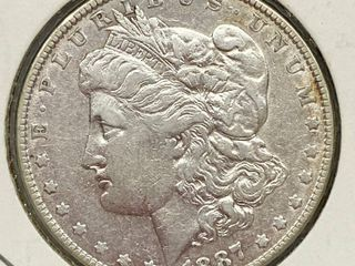 1887 Morgan Silver Dollar Coin