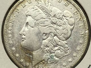 1887 O Morgan Silver Dollar Coin