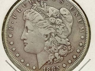 1885 S Morgan Silver Dollar Coin
