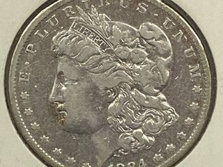 1884 O Morgan Silver Dollar Coin