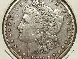 1884 S Morgan Silver Dollar Coin