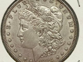 1884 Morgan Silver Dollar Coin