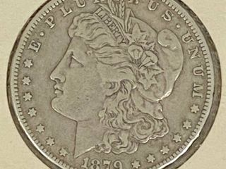1879 Morgan Silver Dollar Coin