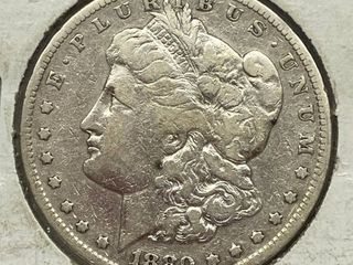 1880 S Morgan Silver Dollar Coin