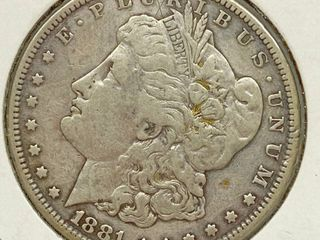1881 S Morgan Silver Dollar Coin