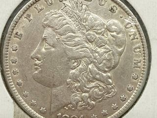 1881 Morgan Silver Dollar Coin