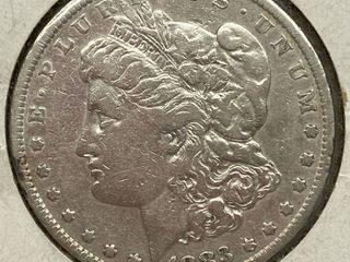 1883 Morgan Silver Dollar Coin