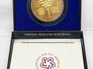 1972 Bicentennial Commemorative Medal   Sons of liberty