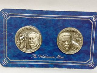 William Taft   Theodore Roosevelt Coin Set