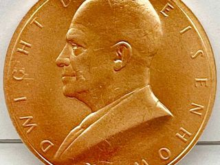 January 20  1955   Dwight D Eisenhower INAUGURATED PRESIDENT COIN   WOW