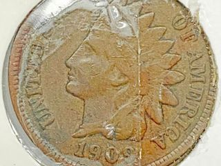 1909 Indian Head Penny Coin