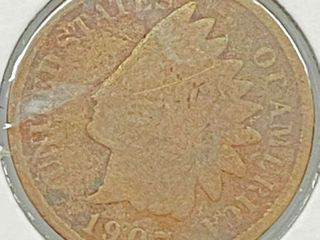1907 Indian Head Penny Coin