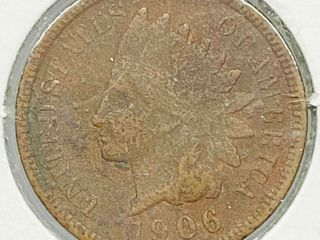 1906 Indian Head Penny Coin
