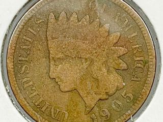 1905 Indian Head Penny Coin