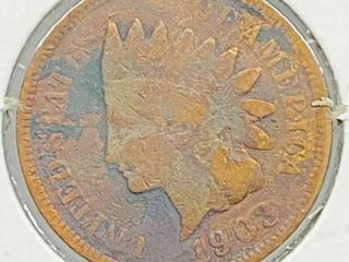 1903 Indian Head Penny Coin