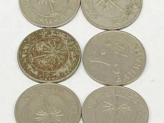 lot of 10   Bahrain Coins