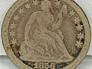 1856 Seated HAlF Dime   Bid Now