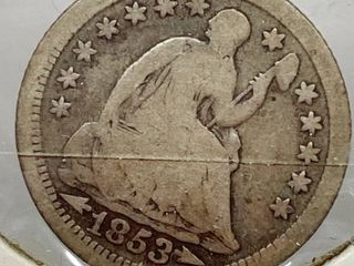 1853 Seated HAlF Dime   Getting Hard to Find