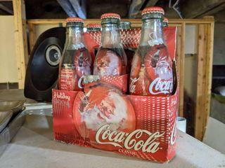 Holiday 2004 Coca Cola Christmas Glass Bottles