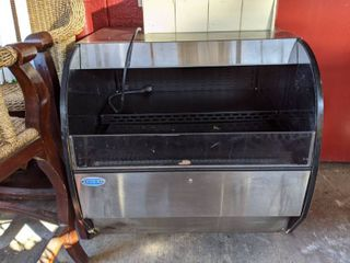 Federal Horizontal Open Air Reach In Cooler With Two Coolers SSRVS On Casters  Buyer Responsible For Removal
