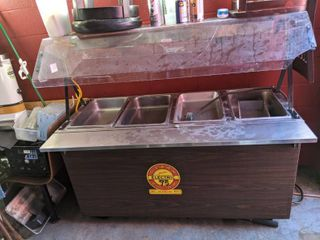 Vollrath Hot Food Table With Four Wells And Enclosed Base 38945  Buyer Responsible For Removal