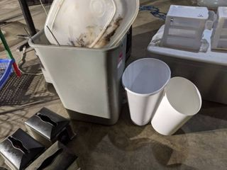 3  Trashcans  Contents Not Included