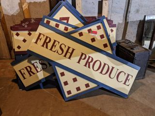 Two Fresh Produce And Twelve Isle Markers