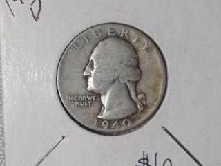1940 D Washington Quarter