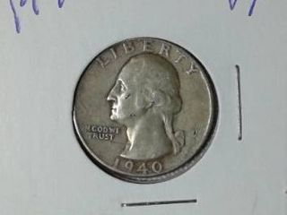 1940 Washington Quarter