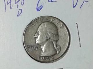 1948 D Washington Quarter