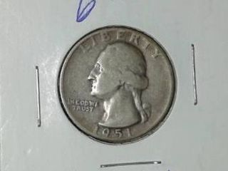 1951 Washington Quarter