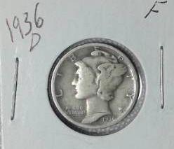 1936 D Mercury Dime