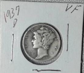 1937 D Mercury Dime