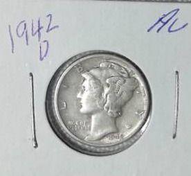 1942 D Mercury Dime