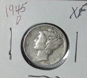 1945 D Mercury Dime