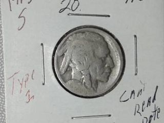1913 S Buffalo Nickel  Type 1